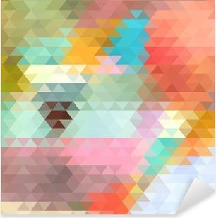 Pixerstick Sticker Heldere achtergrond van de driehoeken
