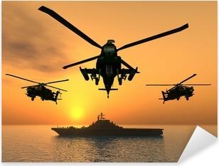 Sticker Pixerstick Hélicoptère Apache