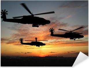 helicopters Pixerstick Sticker