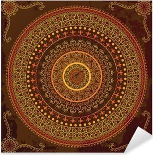 Henna mandala design - Very detailed and easily editable Pixerstick Sticker