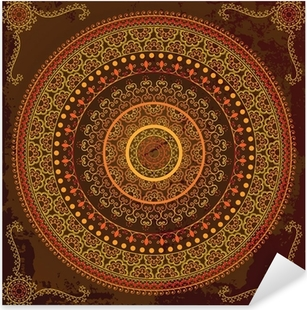 Pixerstick Sticker Henna mandala ontwerp - Zeer gedetailleerd en gemakkelijk te bewerken
