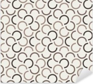 Pixerstick Sticker Herhalende geometrische naadloze patroon. vectorillustratie