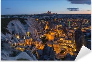 Pixerstick Sticker Het landschap van Cappadocië, Turkije