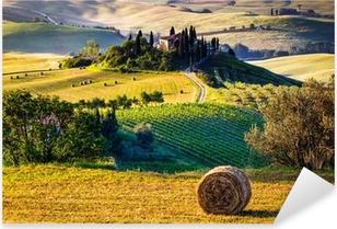 Pixerstick Sticker Het landschap van Toscanië