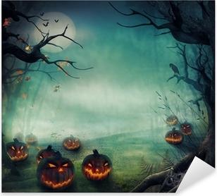 Pixerstick Sticker Het ontwerp van Halloween - Bos pompoenen