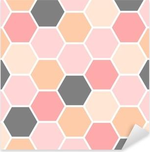 Hexagon Seamless Pattern Pixerstick Sticker