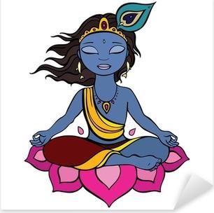 Pixerstick Sticker Hindoe god Krishna.