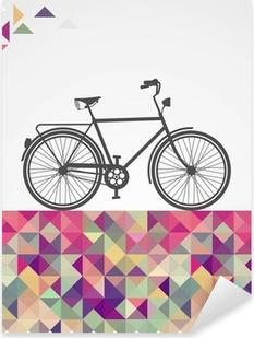 Sticker Pixerstick Hipsters rétro vélo éléments géométriques.