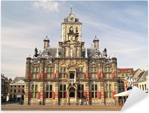 Pixerstick Sticker Historische Stad van Delft, Nederland