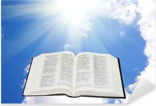 Holy bible in the sky illuminated by a sunlight Pixerstick Sticker