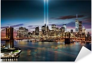 Sticker Pixerstick Hommage au Mémorial Lumière le 11 Septembre, 2014