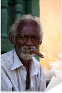 homme au cigare cubain Pixerstick Sticker