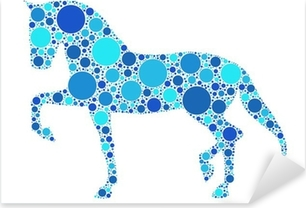 horse Pixerstick Sticker