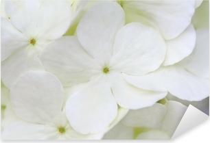 Sticker Pixerstick Hortensia blanc