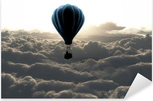 Hot air balloon in the sky Pixerstick Sticker