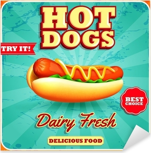 Sticker Pixerstick Hot Dogs