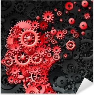 Human Brain Injury Pixerstick Sticker