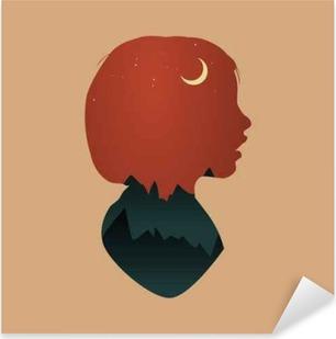 Pixerstick Sticker Human Mindset Thinking Aspiratie Imagination Concept