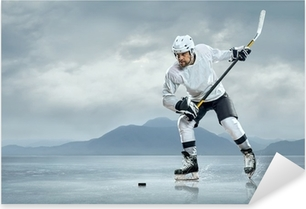 Ice hockey players on the ice Pixerstick Sticker