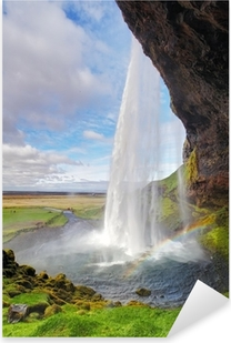 Iceland waterfall - Seljalandsfoss Pixerstick Sticker