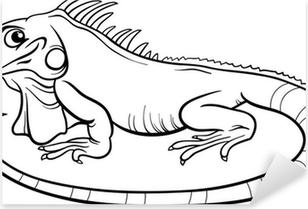 Stickers iguana pixers nous vivons pour changer - Coloriage iguane ...