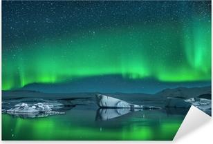 Pixerstick Sticker Ijsbergen onder Noorderlicht