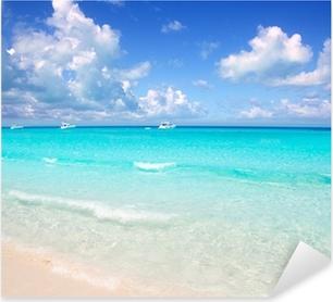 Illetes Formentera East beach tropical turquoise Pixerstick Sticker