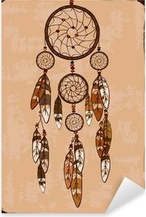 Sticker Pixerstick Illustration avec dreamcatcher tribal