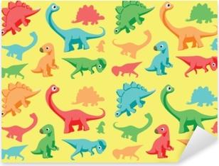 Sticker Pixerstick Illustration vectorielle de dinosaures papier peint 1