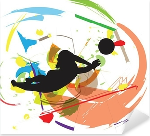 Sticker Pixerstick Illustration Volley-ball