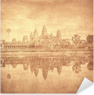 Sticker Pixerstick Image de cru d'Angkor Wat, au Cambodge