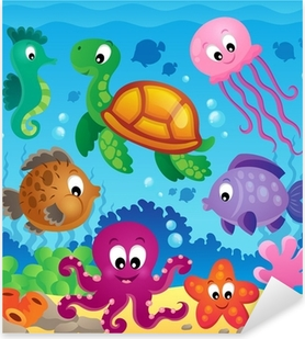 Image with undersea theme 7 Pixerstick Sticker