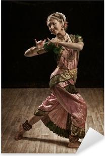 Indian classical dance Bharatanatyam dancer Pixerstick Sticker