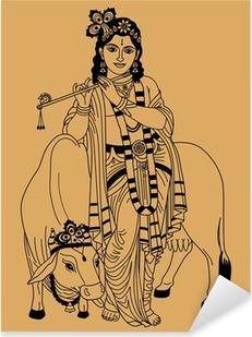 Indian god Pixerstick Sticker