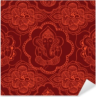 Indian seamless pattern with ornament Pixerstick Sticker