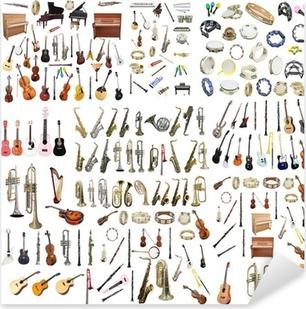 Sticker Pixerstick Instruments de musique différents