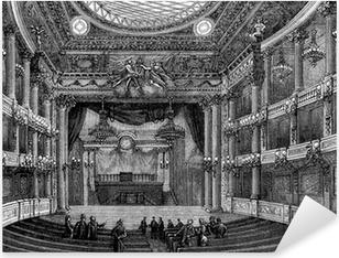 Sticker Pixerstick Intérieur: Théâtre du 17ème siècle - Vue du 19ème siècle