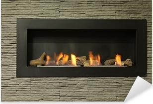 interior fireplace Pixerstick Sticker
