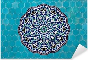Islamic mosaic pattern with blue tiles Pixerstick Sticker
