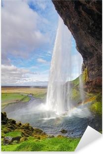 Sticker Pixerstick Islande cascade - Seljalandsfoss