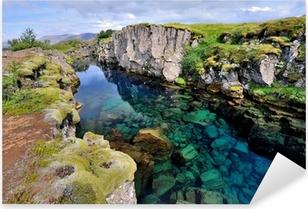Sticker Pixerstick Islande - Parc National de Thingvellir