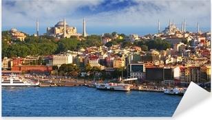 Istanbul from Galata tower, Turkey Pixerstick Sticker