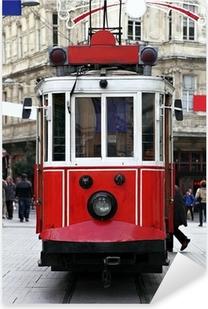 Istanbul Public Tram Pixerstick Sticker
