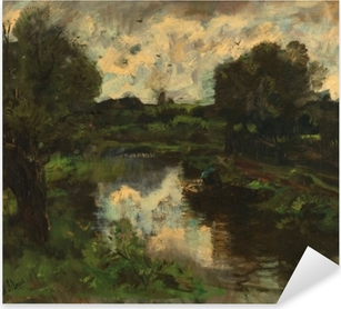 Jacob Maris - Polder after Thunderstorm Pixerstick Sticker