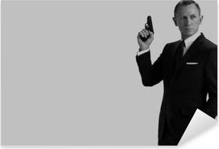 James Bond Pixerstick Sticker