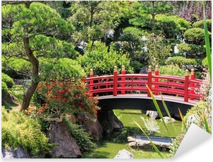 Japanese garden of Monaco Pixerstick Sticker