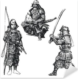 japanese warrior - samurai Pixerstick Sticker