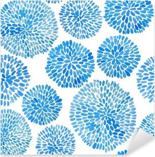 Pixerstick Sticker Japanse bloem cirkel patroon.