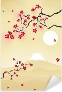 Sticker Pixerstick Japonais de fleurs de cerisier