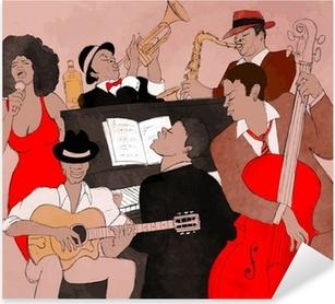 Jazz band Pixerstick Sticker